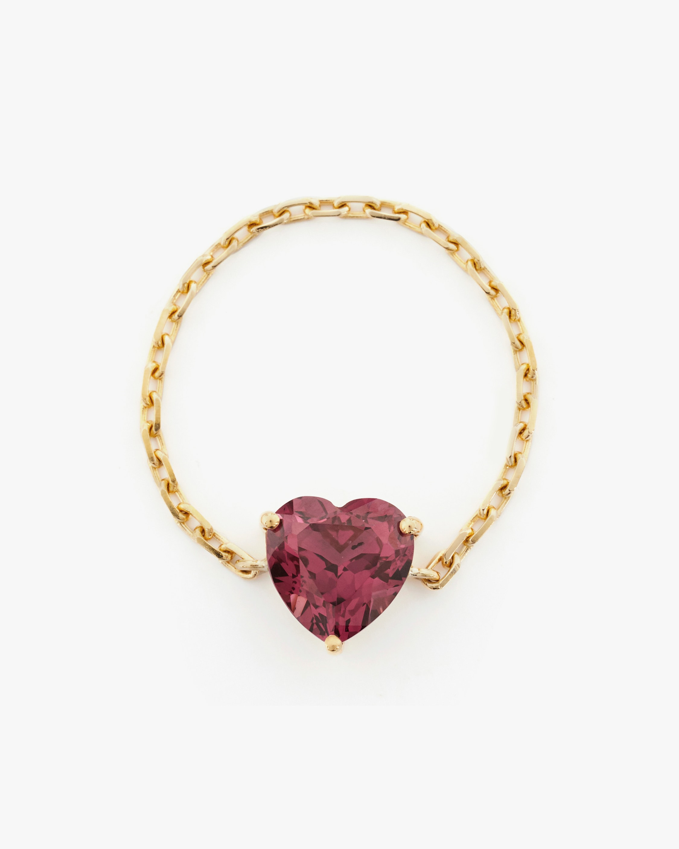 Yi Collection Rhodolite Heart Supreme Chain Ring 1