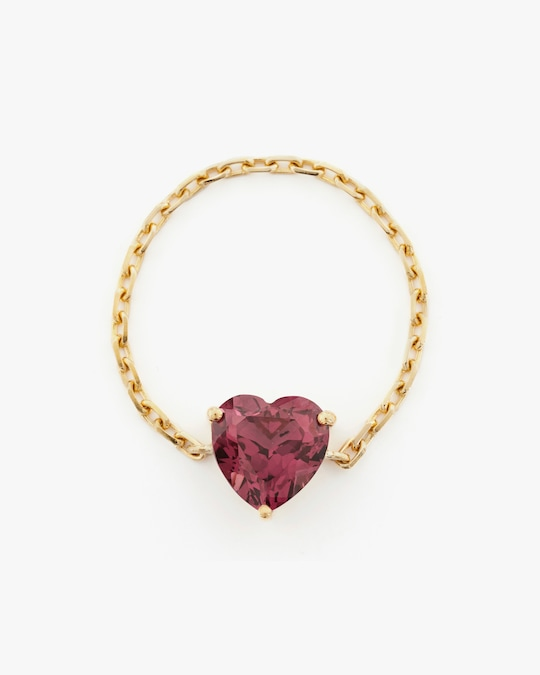 Yi Collection Rhodolite Heart Supreme Chain Ring 0
