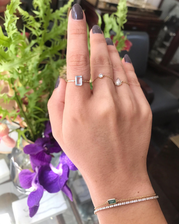 Yi Collection Aquamarine Ice Ring 2