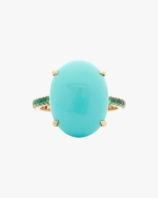 Yi Collection Turquoise & Emerald Ring 1