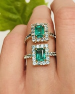 Yi Collection Emerald & Apatite Spring Ring 3