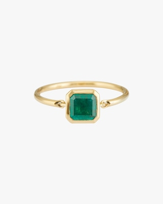Yi Collection Emerald Classic Button Ring 1