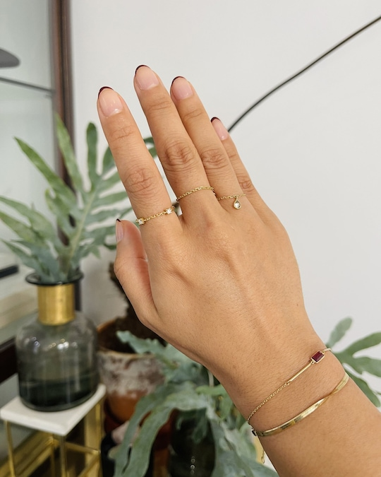Yi Collection Linked Together Gem Ring 1