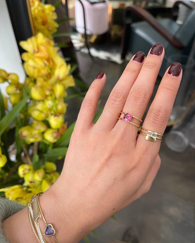 Yi Collection Rhodolite Box Ring 2