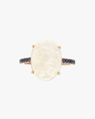 Yi Collection Moonstone & Sapphire Globe Ring 2