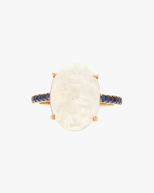 Yi Collection Moonstone & Sapphire Globe Ring 0