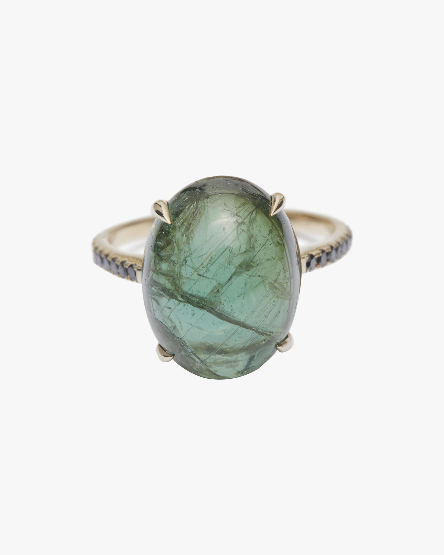 Yi Collection Tourmaline & Black Diamond Globe Ring 0