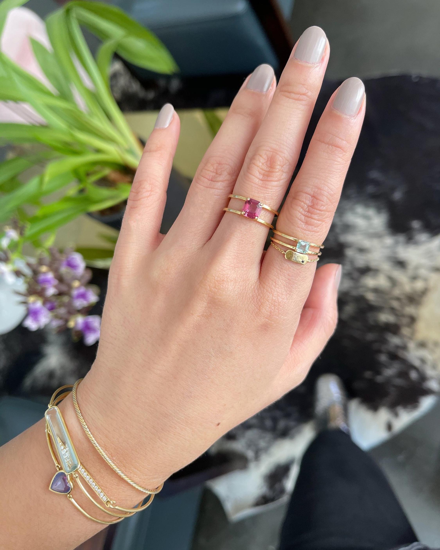 Yi Collection Tourmaline Petite Box Ring 1