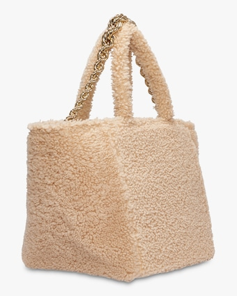 Dorothee Schumacher Wild Touch Shearling Tote 2