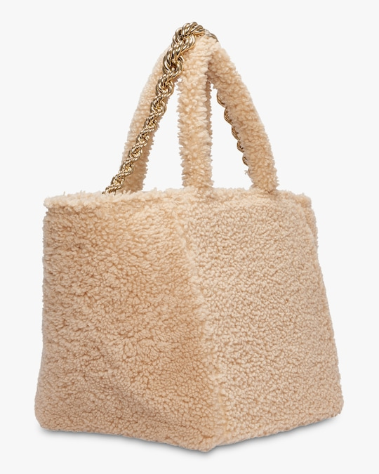 Dorothee Schumacher Wild Touch Shearling Tote 1