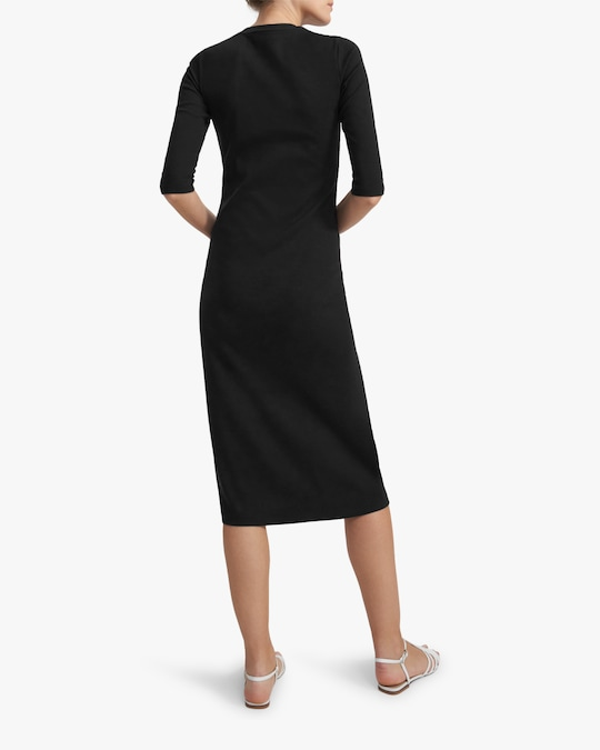 Theory Button-Front Midi Dress 1
