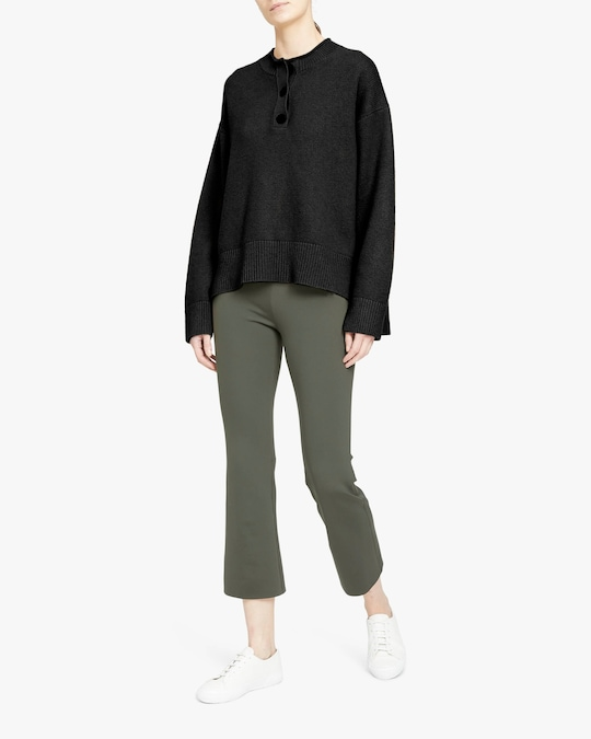 Theory Henley Cashmere Pullover 1
