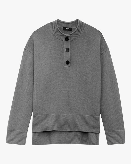 Theory Henley Cashmere Pullover 0