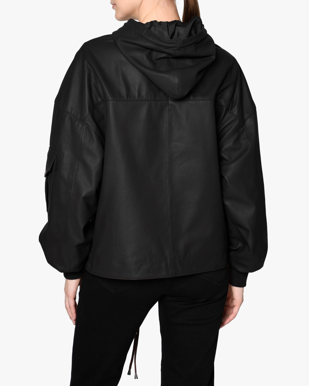 Nicole Miller Hooded Leather Anorak 2