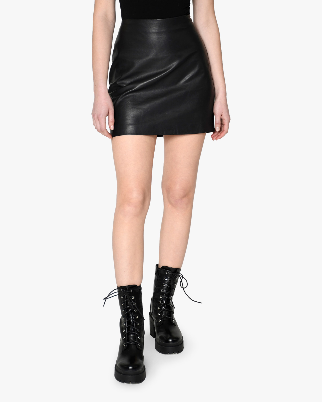 Nicole Miller Leather Mini Skirt 1