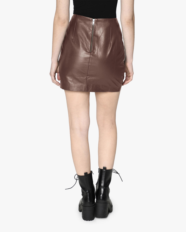 Nicole Miller Leather Mini Skirt 2