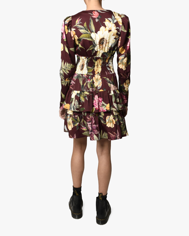 Nicole Miller Venus Floral Tiered Silk-Blend Dress 1