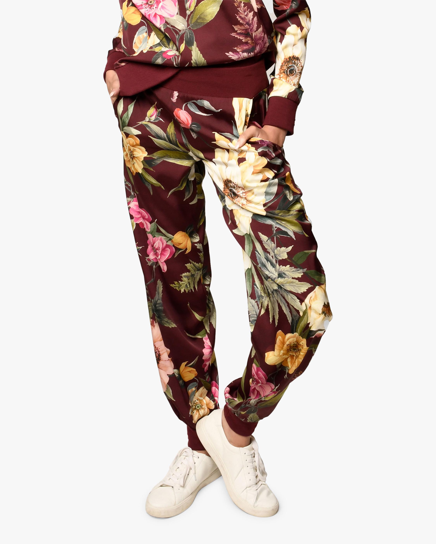 Nicole Miller Venus Floral Silk-Blend Joggers 1