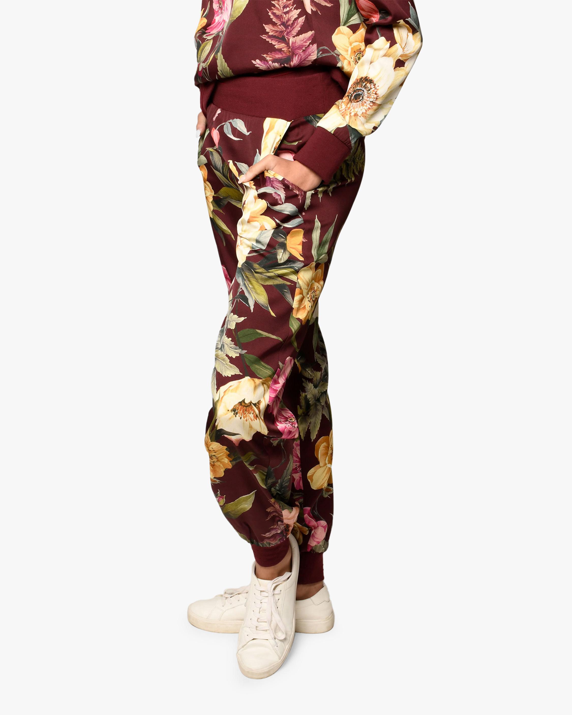 Nicole Miller Venus Floral Silk-Blend Joggers 2