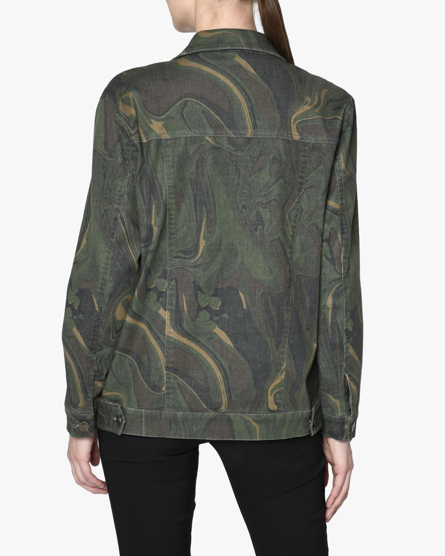 Nicole Miller Camo Swirl Oversized Denim Jacket 1