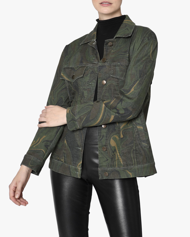 Nicole Miller Camo Swirl Oversized Denim Jacket 3