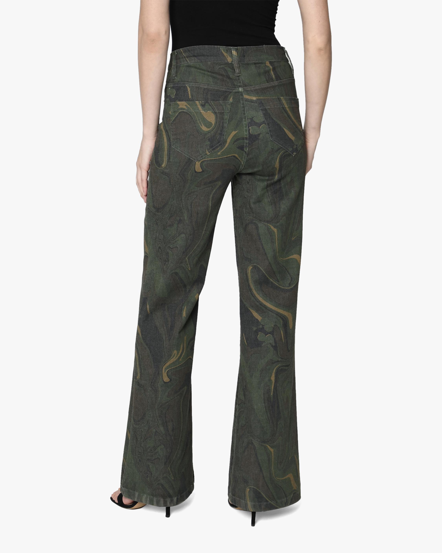 Nicole Miller Camo Swirl Wide-Leg Jeans 1