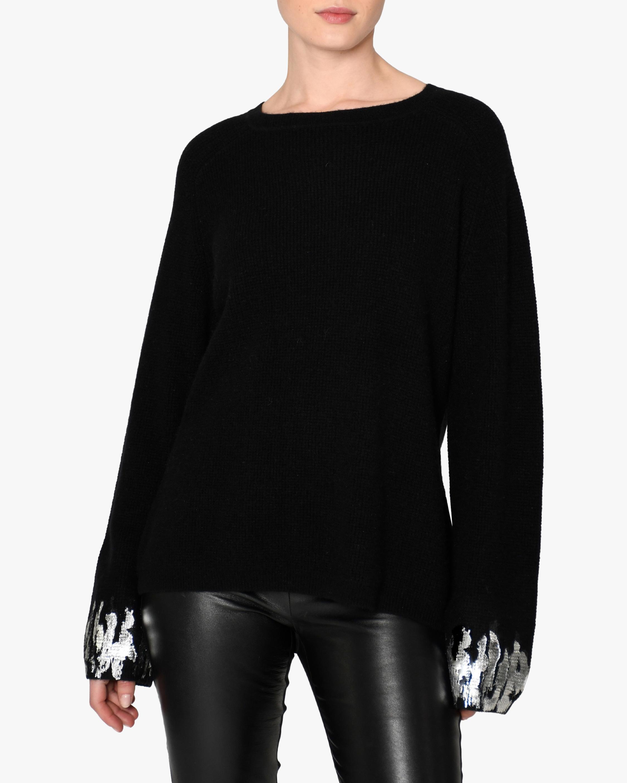 Nicole Miller Foil-Detail Cashmere Sweater 1