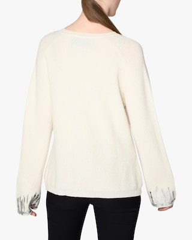 Nicole Miller Foil-Detail Cashmere Sweater 2