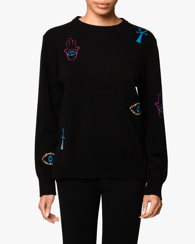 Nicole Miller Icon Cashmere Crewneck Sweater 0
