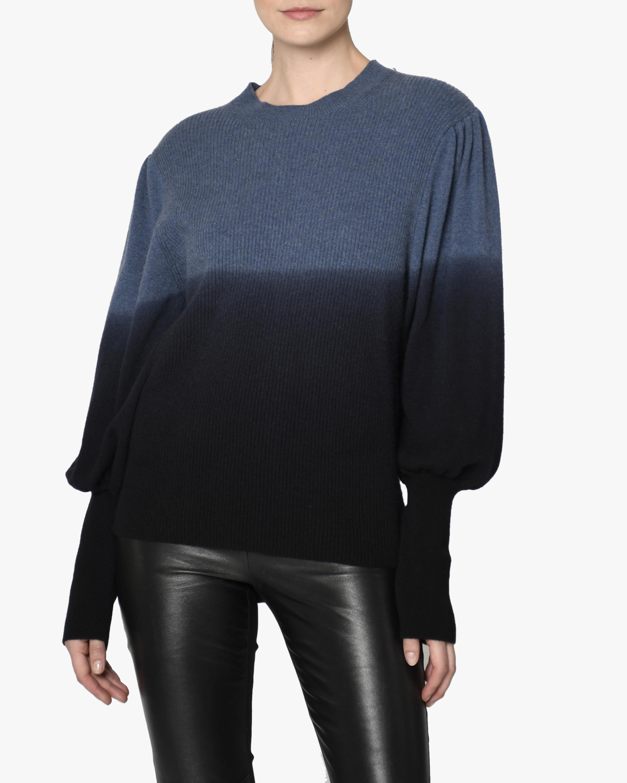 Nicole Miller Puff-Sleeve Cashmere Sweater 0