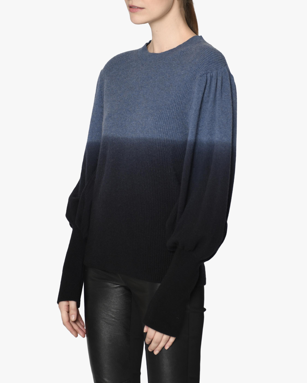Nicole Miller Puff-Sleeve Cashmere Sweater 2