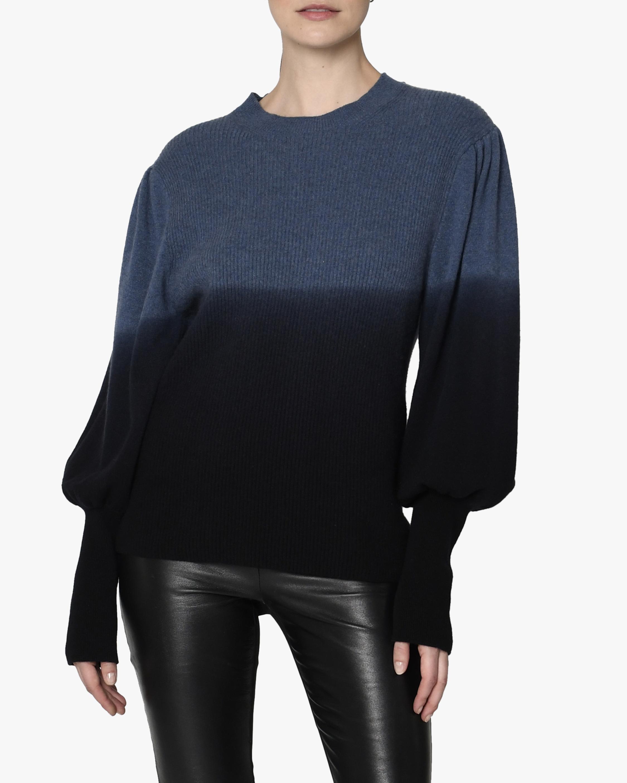 Nicole Miller Puff-Sleeve Cashmere Sweater 3