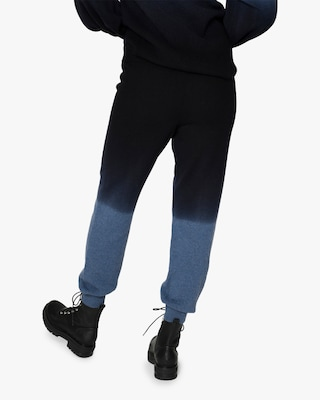 Nicole Miller Dip-Dyed Cashmere Joggers 2