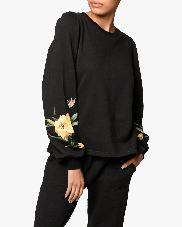 Nicole Miller Venus Floral French Terry Sweatshirt 1