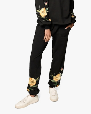Nicole Miller Venus Floral French Terry Joggers 1