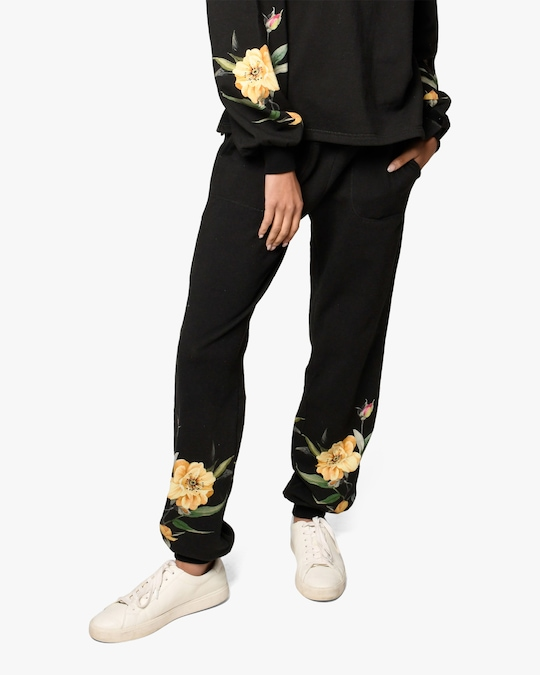 Nicole Miller Venus Floral French Terry Joggers 0