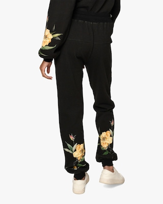 Nicole Miller Venus Floral French Terry Joggers 2