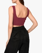 Nicole Miller Ribbed Knit Bra Top 1