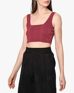 Nicole Miller Ribbed Knit Bra Top 2