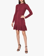 Nicole Miller Ribbed Knit Fit & Flare Dress 2