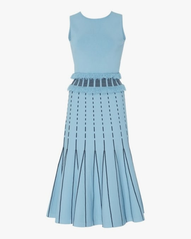 Prabal Gurung Fringe-Edge Sleeveless Dress 0