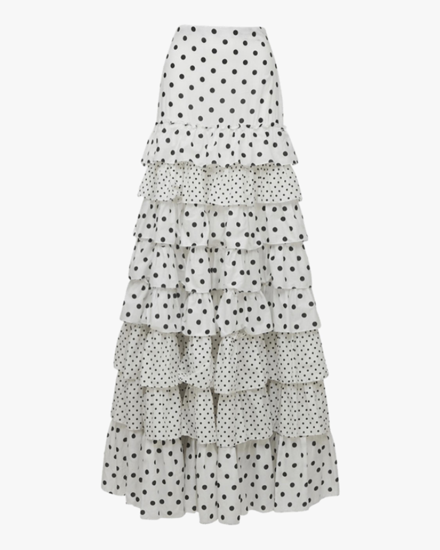Prabal Gurung Tiered Ruffle Skirt 0