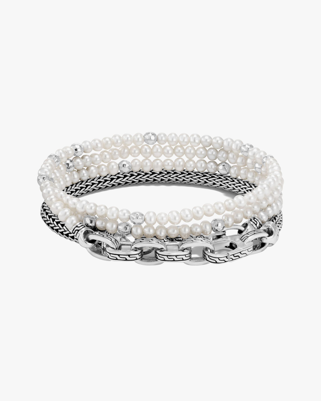 John Hardy Classic Chain Multi-Wrap Transformable Pearl Bracelet 1