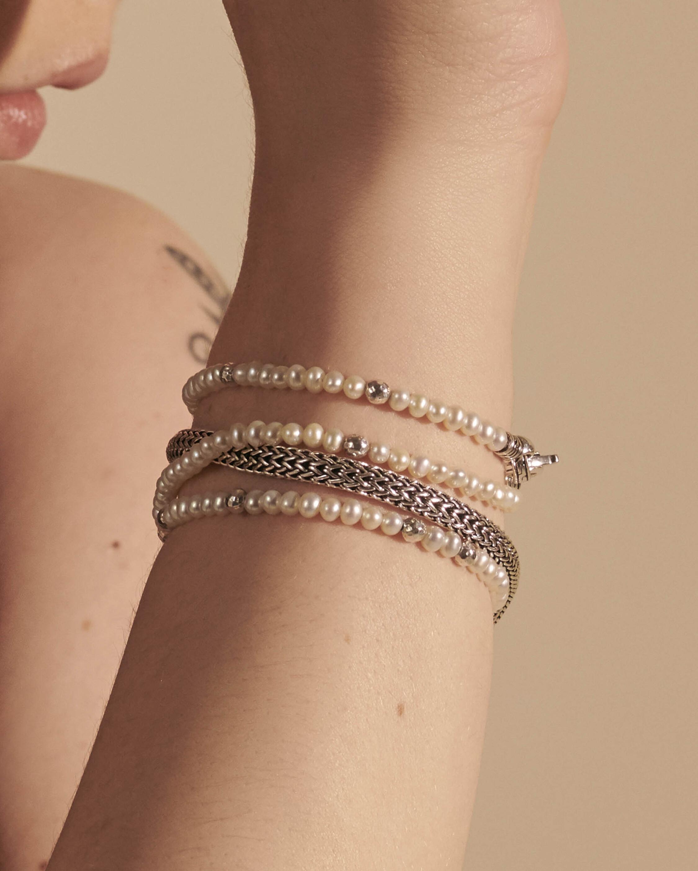 John Hardy Classic Chain Multi-Wrap Transformable Pearl Bracelet 2