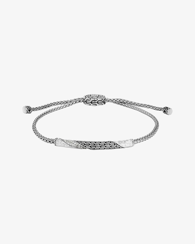 John Hardy Classic Chain Twisted Diamond Bracelet 1