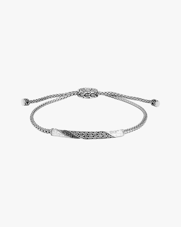 John Hardy Classic Chain Twisted Black Spinel Bracelet 0