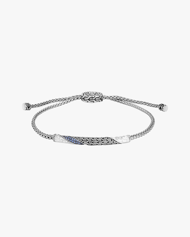John Hardy Classic Chain Twisted Blue Sapphire Bracelet 0
