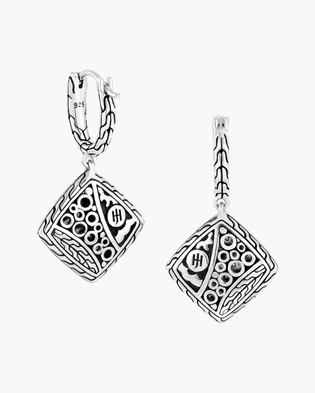 John Hardy Classic Chain Diamond Drop Earrings 2