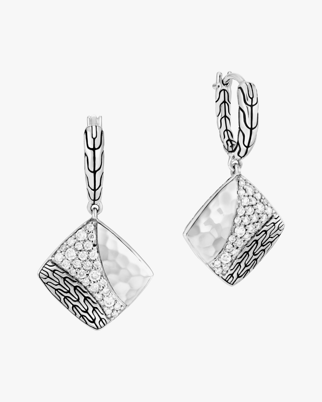John Hardy Classic Chain Diamond Drop Earrings 1
