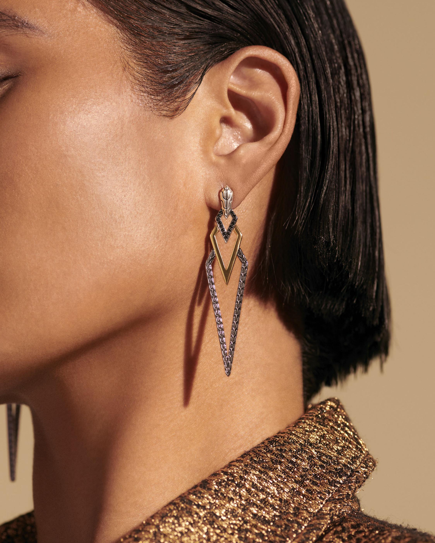 John Hardy Classic Chain Tiga Drop Earrings 1